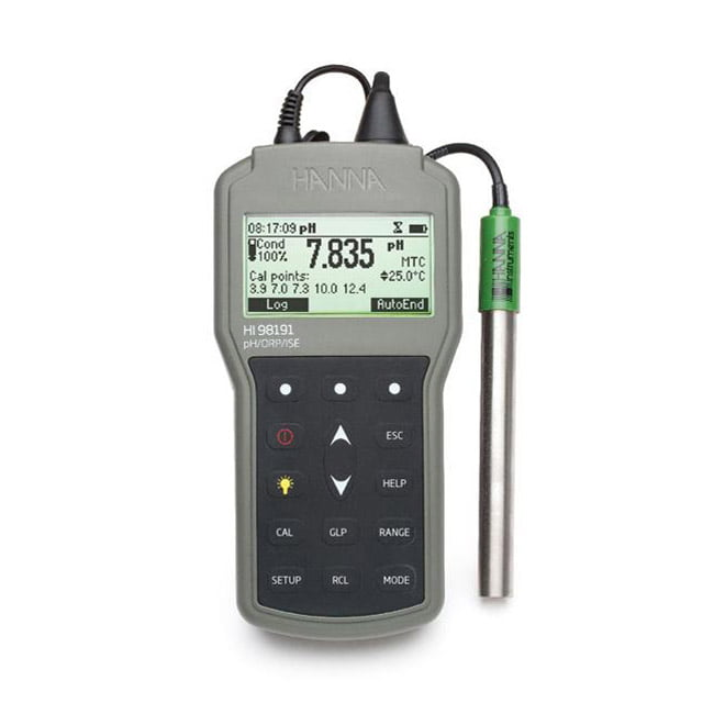 pH meter แบบพกพาภาคสนาม