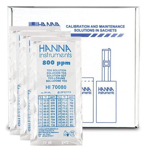 น้ำยามาตรฐานสอบเทียบ TDS แบบซองรุ่น HI70080C
