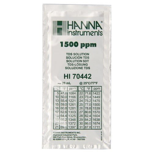 น้ำยามาตรฐานสอบเทียบ TDS แบบซองรุ่น HI70442C