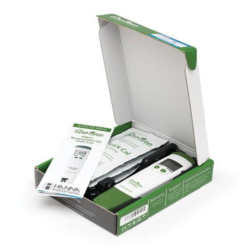 เครื่องวัด pH EC TDS Meter แบบปากกาสำหรับไฮโดรโปนิกส์ รุ่น GroLine HI98131 พร้อมใช้าน