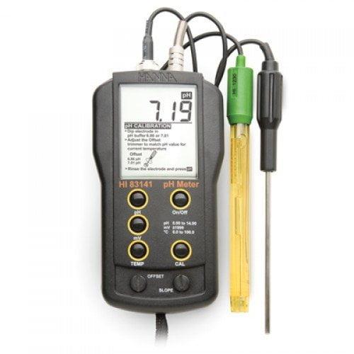 เครื่องวัด pH ORP Meter และอุณหภูมิ จาก Hanna รุ่น HI83141