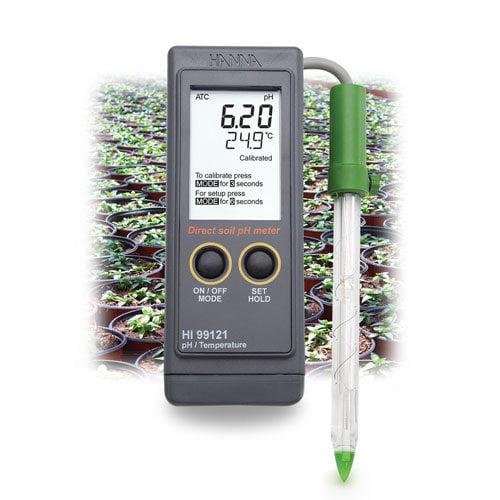 เครื่องวัดกรด-ด่างในดิน ph ดิน (Soil pH Meter) รุ่น HI99121