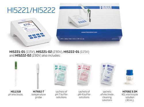 pH ORP Benchtop Meter แบบตั้งโต๊ะ Research Grade รุ่น HI5221