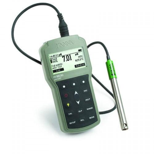 เครื่องวัด pH ORP Meter (Portable) พกพาสำหรับงานภาคสนามรุ่น HI98190