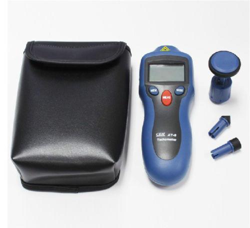 เครื่องวัดความเร็วรอบ CEM รุ่น AT-8 (Contact and Non-contact Tachometer)