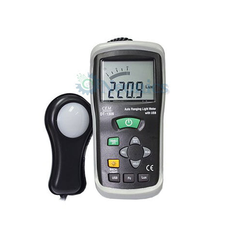 เครื่องวัดแสง (Lux Meter) CEM รุ่น DT-1309