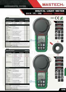 Specification เครื่องวัดความเข้มแสง (Lux Meter) Mastech รุ่น MS6612