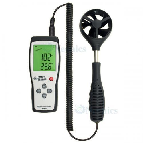 เครื่องวัดความเร็วลม Anemometer แบรนด์ SmartSensor รุ่น AS836