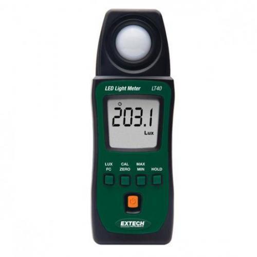 เครื่องวัดแสง LED Lux Meter รุ่น LT40 จาก Extech
