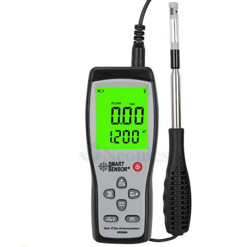เครื่องวัดความเร็วลมแบบ Hotwire Anemometer SmartSensor รุ่น AR866A