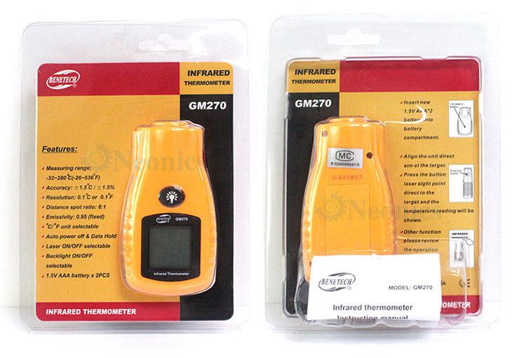 เครื่องวัดอุณหภูมิแบบอินฟราเรด Infrared Thermometer จาก BeneTech รุ่น GM270