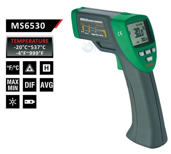 เครื่องวัดอุณหภูมิอินฟราเรด (Infrared Thermometer) Mastech รุ่น MS6530