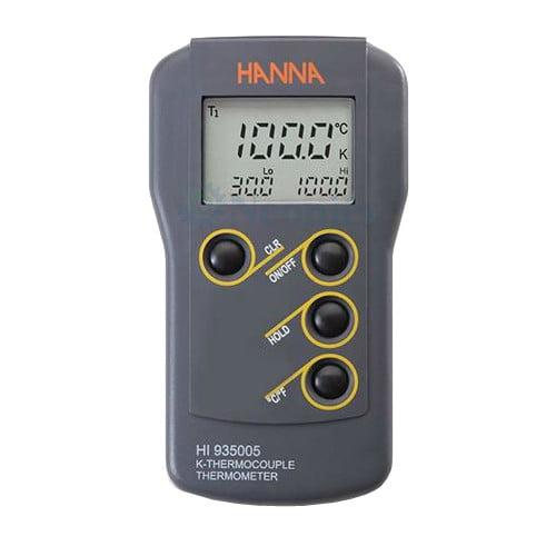 เครื่องวัดอุณหภูมิ เทอร์โมมิเตอร์ (Thermometer) รุ่น HI935005 แบบ thermocouple Type K