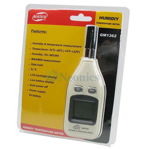 เครื่องวัดอุณหภูมิ ความชื้น Thermo Hygrometer GM1362 แบบพกพา