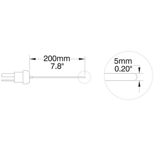 โพรบวัดอุณหภูมิ (Thermocouple Probe) รุ่น HI766PE2