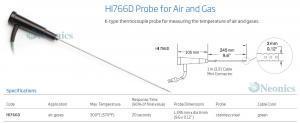 โพรบวัดอุณหภูมิเทอร์โมคัปเปิ้ล (Thermocouple Probe) รุ่น HI766PD