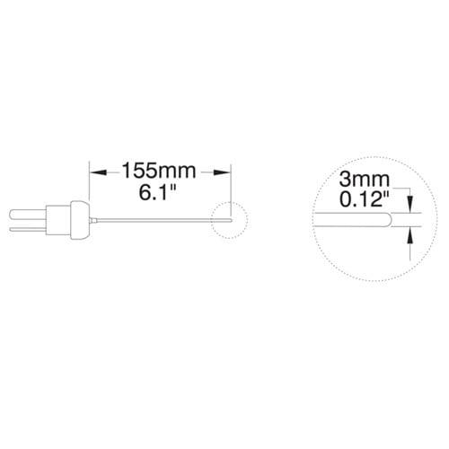 โพรบวัดอุณหภูมิ (Thermocouple Probe) รุ่น HI766PE1 (General Purpose)