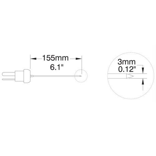 โพรบวัดอุณหภูมิ (Thermocouple Probe) รุ่น HI766PC (Penetration Probe)