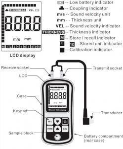 เครื่องวัดความหนาอัลตร้าโซนิค Benetech รุ่น GM130
