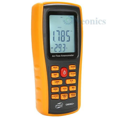 เครื่องวัดความเร็วลม Datalogger จาก Benetech รุ่น GM8902+