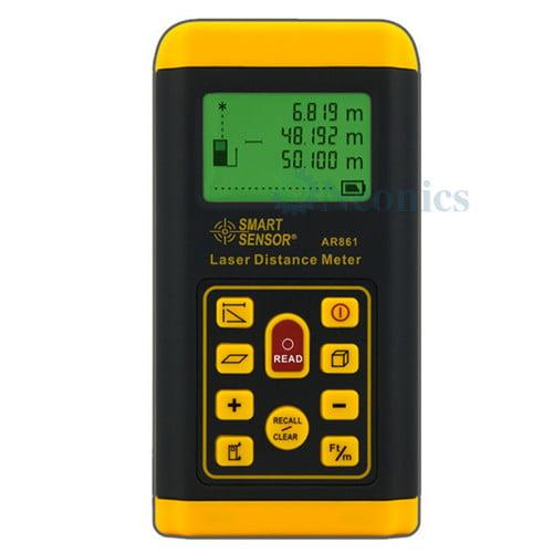 เครื่องวัดระยะเลเซอร์ Laser Distance Meter แบรนด์ SmartSensor รุ่น AS861