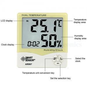 เครื่องวัดอุณหภูมิ ความชื้นแบรนด์ SmarrtSensor รุ่น AR867