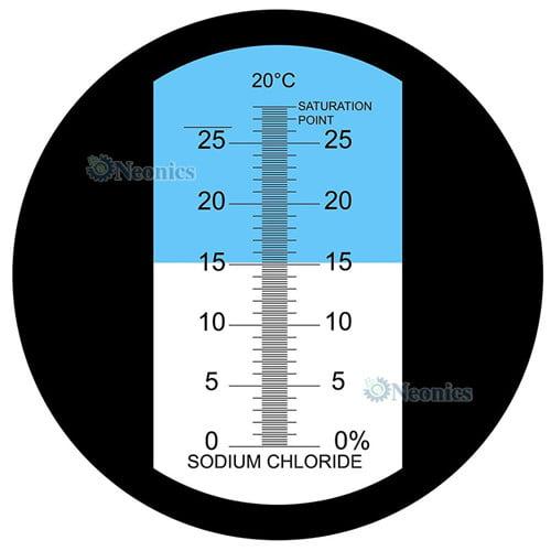 เครื่องวัดความเค็ม Salinity Refractometer รุ่น HT212ATC