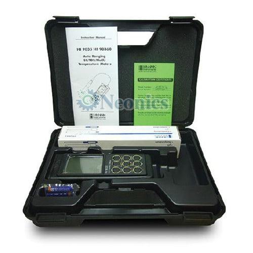 เครื่องวัดคุณภาพน้ำ EC TDS Salt Meter จาก Hanna รุ่น HI9835