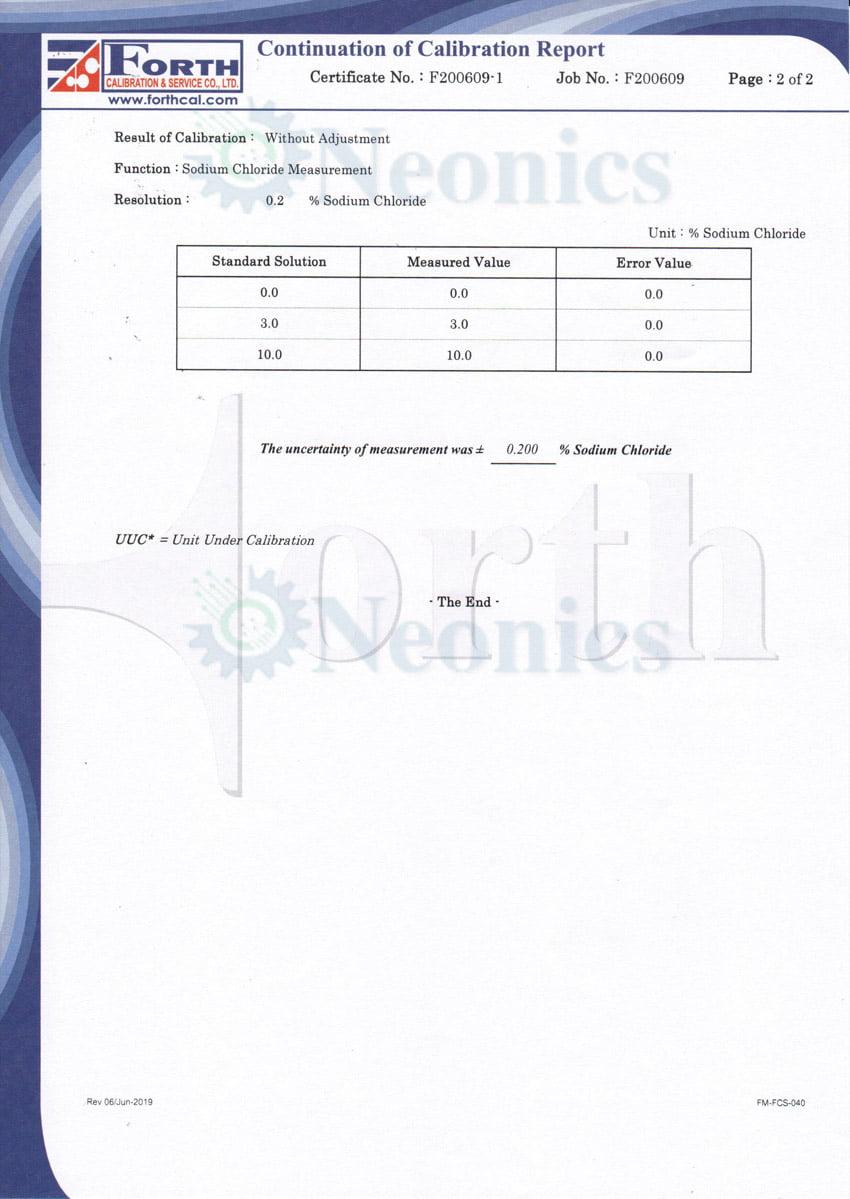 RHS-28ATC Certificate of calibration หน้า2