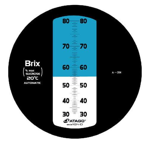 เครื่องวัดความหวาน Brix Refractometer 30-80Brix Atago รุ่น MASTER-80H