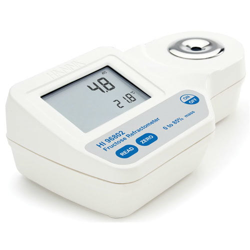 เครื่องวัดน้ำตาลฟรุกโตส Fructose Refractometer แบบดิจิตอล HI96802