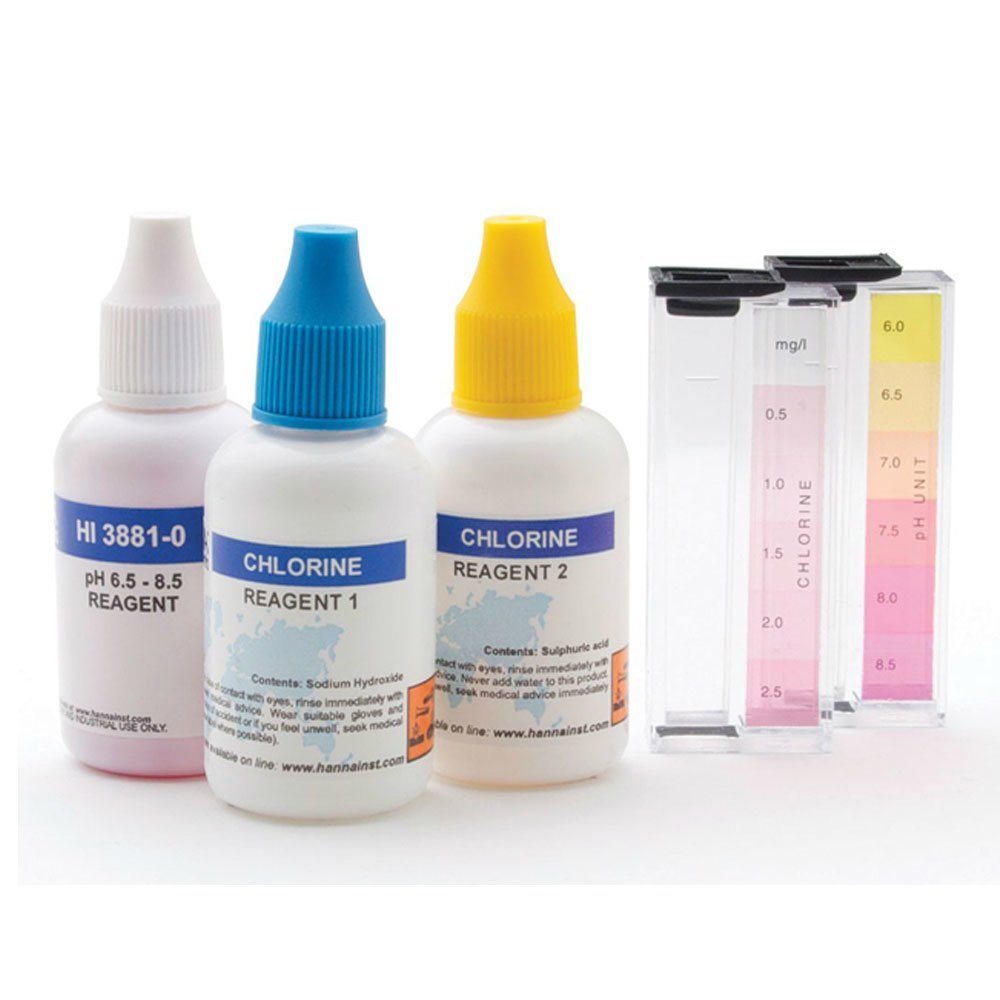ชุดทดสอบคลอรีนและ pH สำหรับสระว่ายน้ำรุ่น HI3887