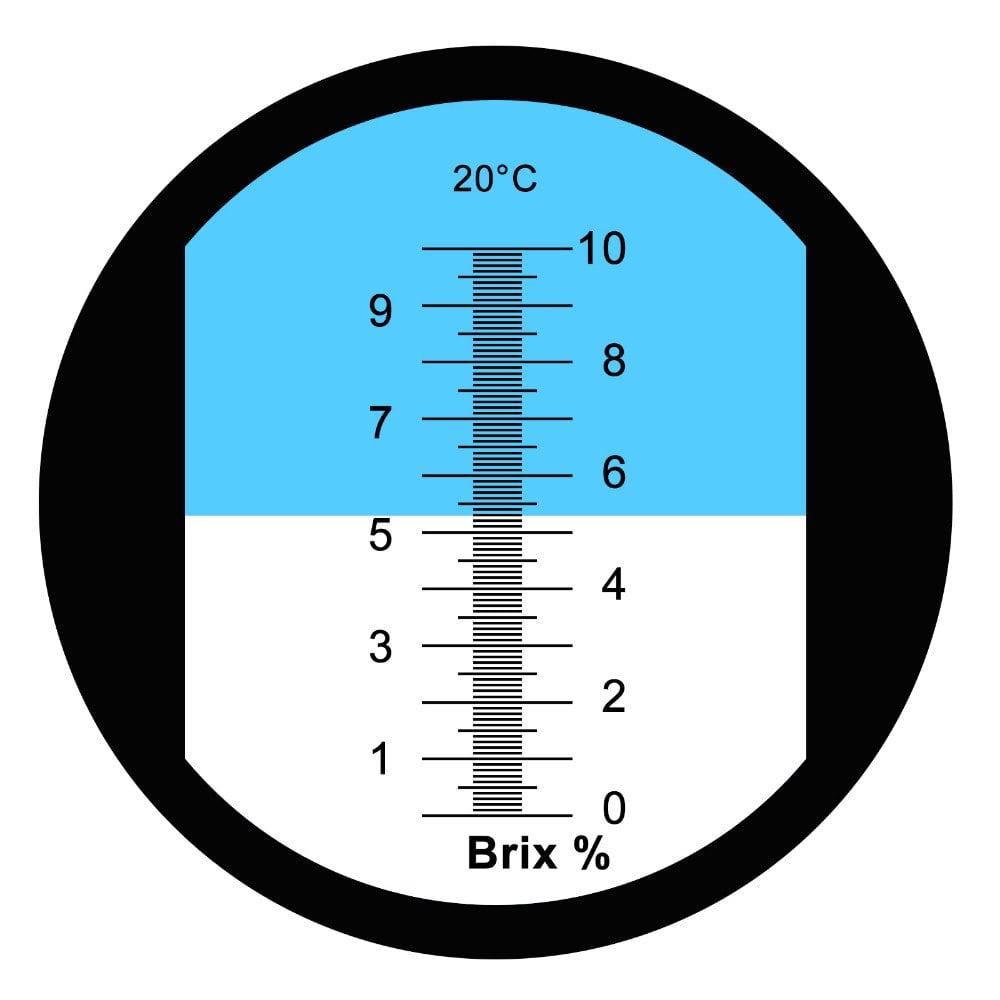 สเกลย่านการวัด 0-10BRIX