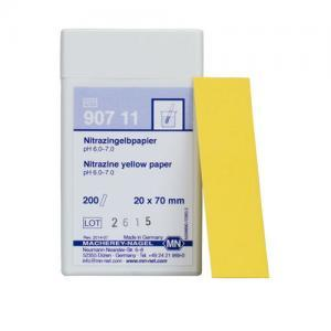 กระดาษลิตมัสวัดค่า pH ทางการแพทย์ Nitrazine yellow paper