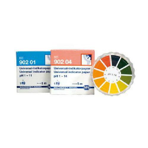 กระดาษลิตมัสวัดค่า pH แบบตลับย่านการวัด 1-14pH แบรนด์ MN