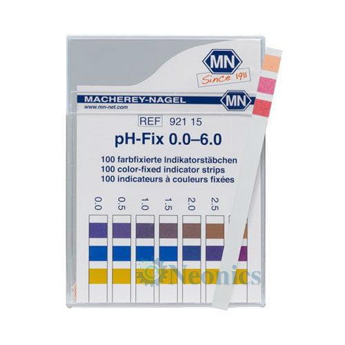 กระดาษลิตมัสวัดค่าpH ชนิด 3แถบวัดย่าน 0.0-6.0pH แบรนด์ MN