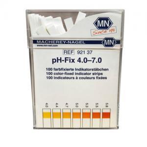 กระดาษลิตมัสวัดค่าpH ชนิด 4แถบวัดย่าน 4.0-7.0pH แบรนด์ MN