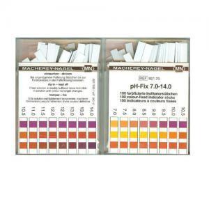 กระดาษลิตมัสวัดค่า pH ชนิด 3แถบวัดย่าน 7.0-14.0pH แบรนด์ MN