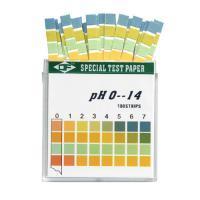 กระดาษลิตมัส กระดาษวัดค่า pH Litmus Paper ชนิด 4แถบวัด 0-14pH