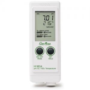 เครื่องวัด pH EC TDS Meter และอุณหภูมิจาก Hanna รุ่น HI9814