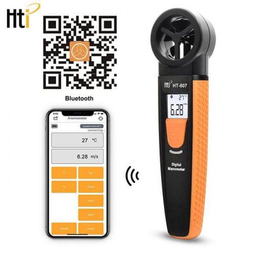 HT-807 ส่งข้อมูลผ่าน Bluetooth ผ่าน App ของ Android และ IOS