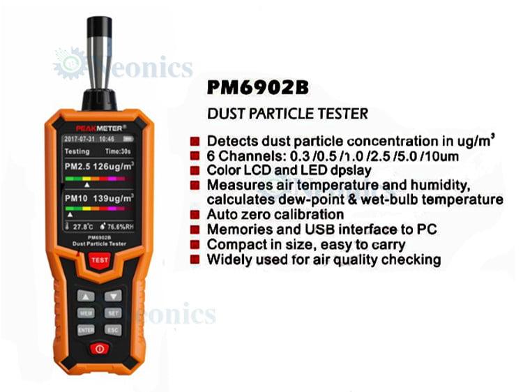 เครื่องวัดอนุภาคฝุ่น-PM6902b