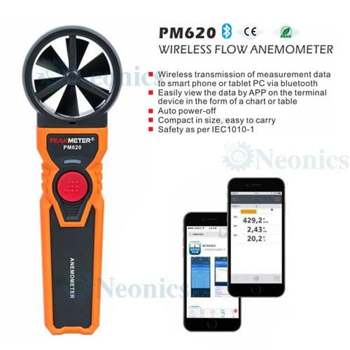 เครื่องวัดความเร็วลม-Wireless-Digital-Anemometer-PM620