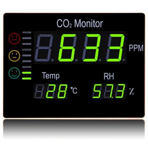 เครื่องวัดก๊าซคาร์บอนไดออกไซด์ CO2 อุณหภูมิและความชื้นแบบติดผนังรุ่น HT-2008