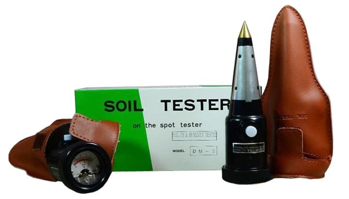 เครื่องวัดดิน (Soil pH Meter) และความชื้นรุ่น DM-5 สินค้า Takemura จากญี่ปุ่น