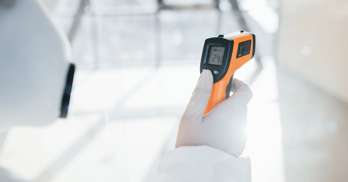 หลักการทํางานของ Infrared thermometer
