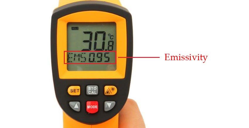 Emissivity บนเครื่องวัด