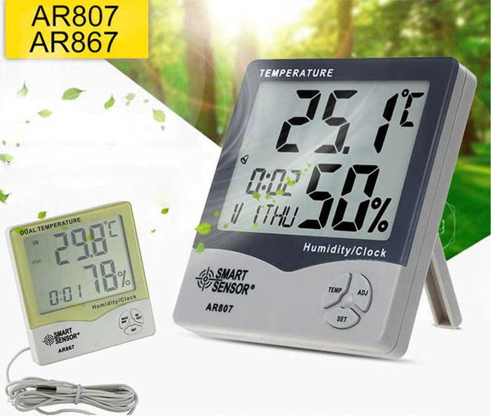 การวัดความชื้นสัมพัทธ์ (RH) ในอากาศ