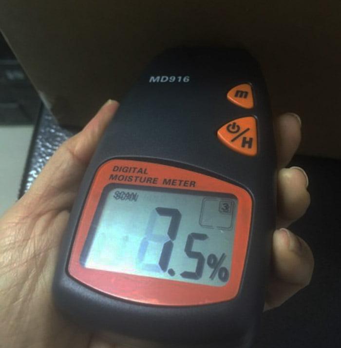การวัดความนชื้นในกระดาษ