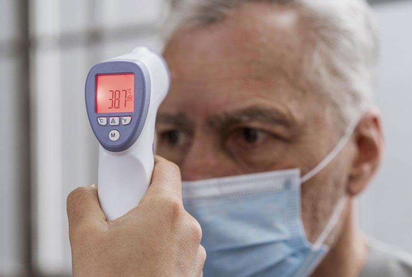การใช้งานเครื่องวัดอุณหภูมิที่หน้าผาก